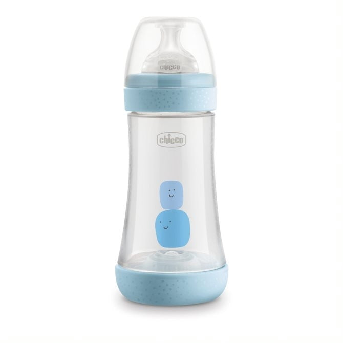 Chicco Perfect5 Bottle  2m+ Medium Flow 240 ml - Blue