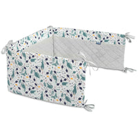 Sensillo Velvet Cot Bumper - Animals