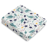 Sensillo Printed Cot Sheet - Animals