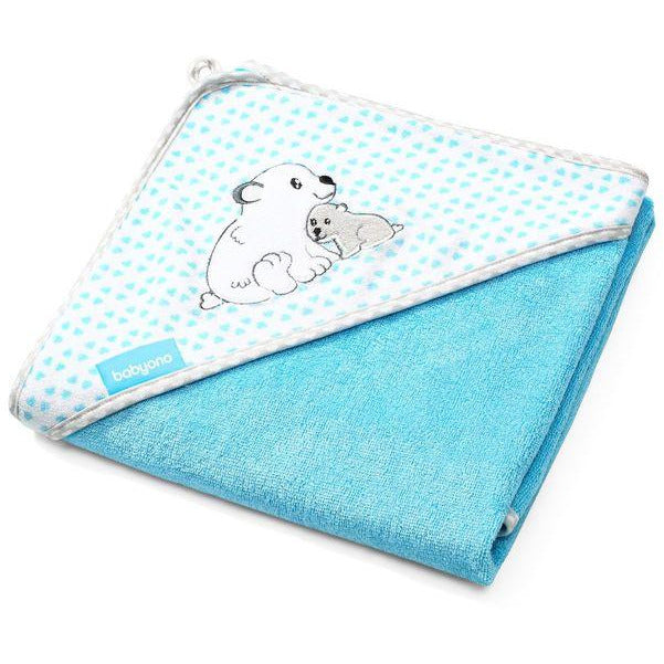 Babyono Bamboo Hooded Towel - Medium or Large  - Blue Bears