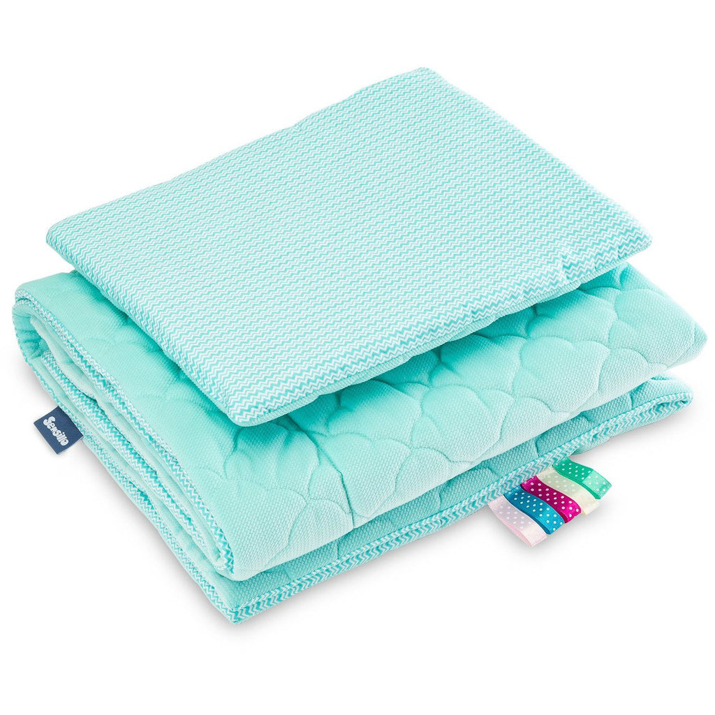 Velvet Duvet & Pillow Set - Mint