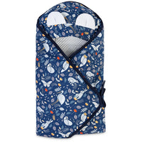 Sensillo Footmuff Car Seat Swaddle Blanket - Blue Forest