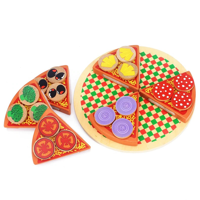 Wooden Pizza Set - Montessori Toy