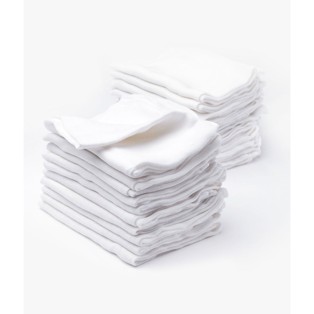 White muslins 60 x 80 cm pack of 20