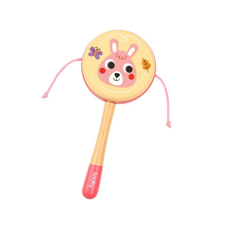 Tooky Toy Wooden Rattle - Pink