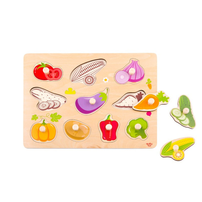 Tooky Toy Wooden Puzzle - Vegetables