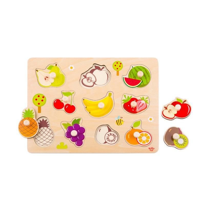 Tooky Toy Wooden Puzzle - Fruits