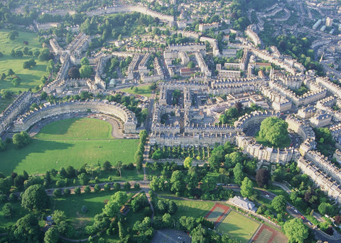 View of Bath from above, one of the best places in Britain