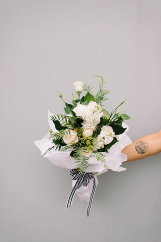 A Posy Please — White and Green