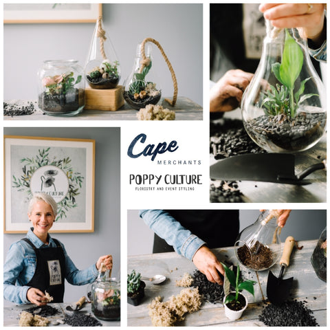 School Holiday Terrarium Making Workshop at Cape Merchants