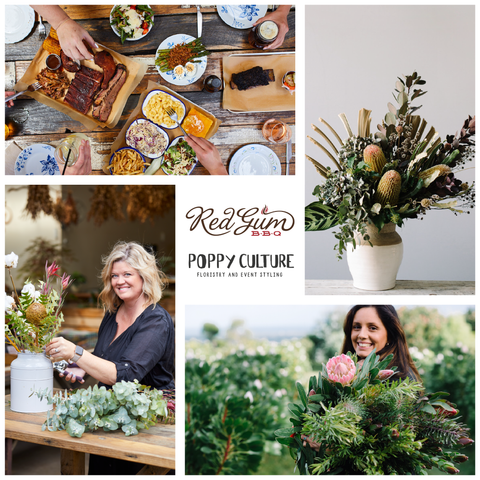 Winter Organic Flower Arranging Workshop & BBQ Banquet at Red Gum BBQ