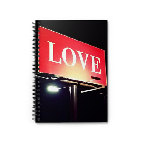 Love Billboard Spiral Notebook - Ruled Line