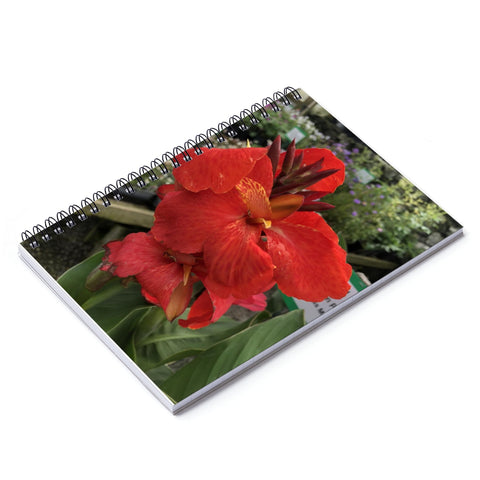 Canna Lily Spiral Notebook - Ruled Line