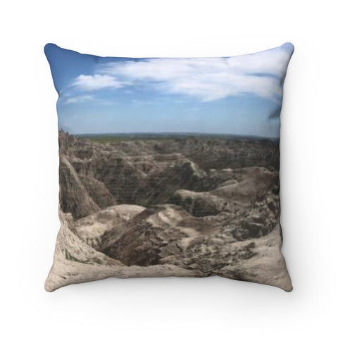 Badlands Polyester Square Pillow