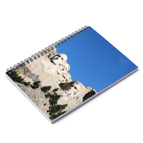 Mount Rushmore Spiral Notebook - Ruled Line
