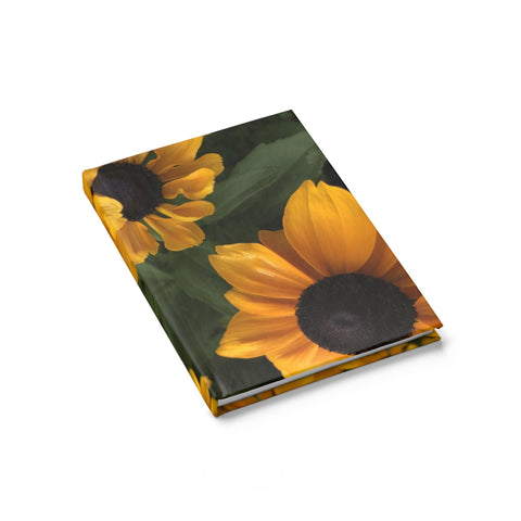 Sweet Black Eyed Susan Journal - Ruled Line