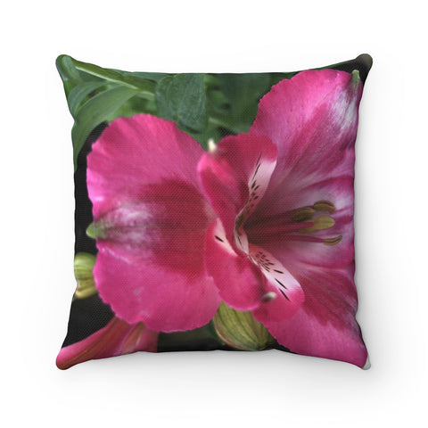 Peruvian Lily Polyester Square Pillow