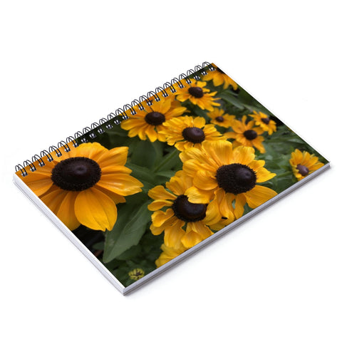 Sweet Black Eyed Susan Spiral Notebook - Ruled Line