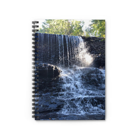 Water Wall Spiral Notebook - Ruled Line