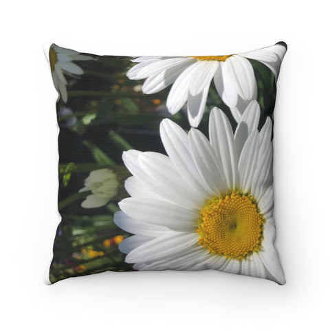 Daisy Polyester Square Pillow