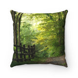Sunlight Path Spun Polyester Square Pillow