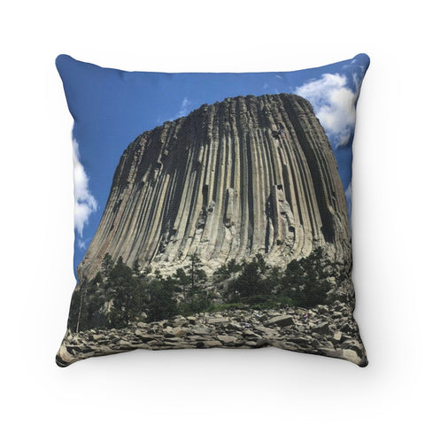 Devil's Tower Polyester Square Pillow