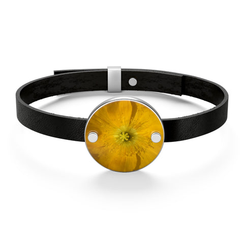 Icelandic Poppy Leather Bracelet