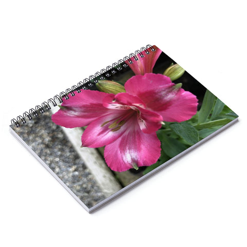 Peruvian Lily Spiral Notebook - Ruled Line