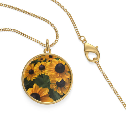 Sweet Black Eyed Susan Loop Necklace