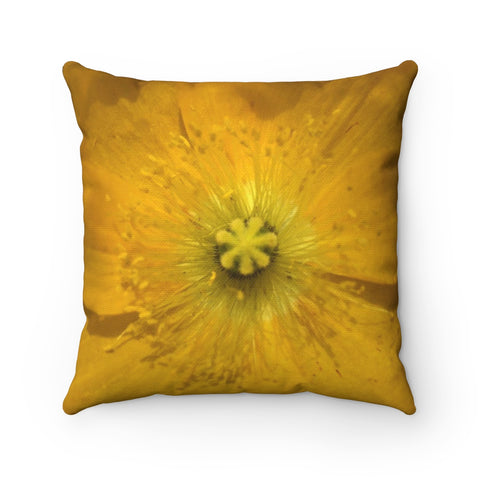 Icelandic Poppy Polyester Square Pillow