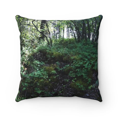 Nature's Garden Polyester Square Pillow