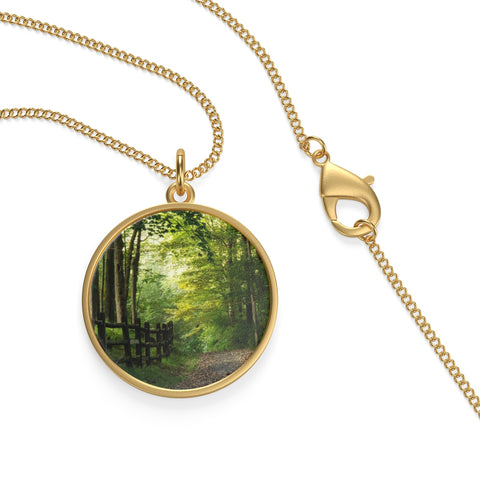 Sunlight Path Single Loop Necklace