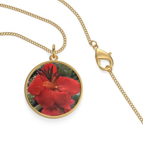 Canna Lily Single Loop Necklace