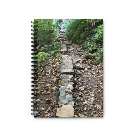 Rock Lined Path Spiral Notebook - Ruled Line