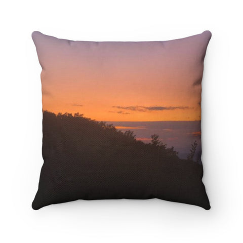 Shenandoah Sunset Spun Polyester Square Pillow