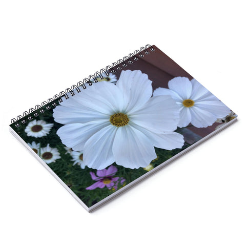 Garden Cosmo Spiral Notebook - Ruled Line