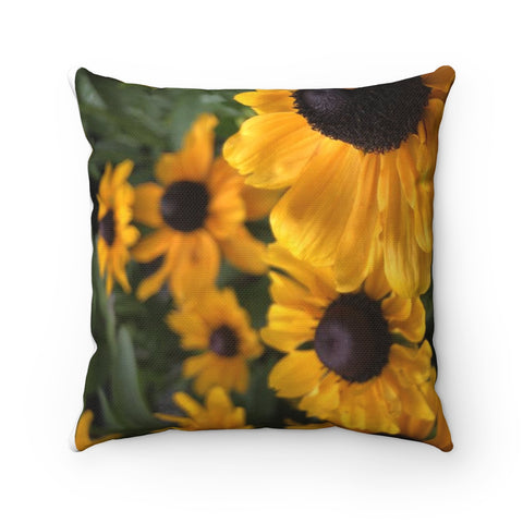 Sweet Black Eyed Susan Polyester Square Pillow