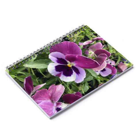Johnny Jumpup Violets Notebook - Ruled Line
