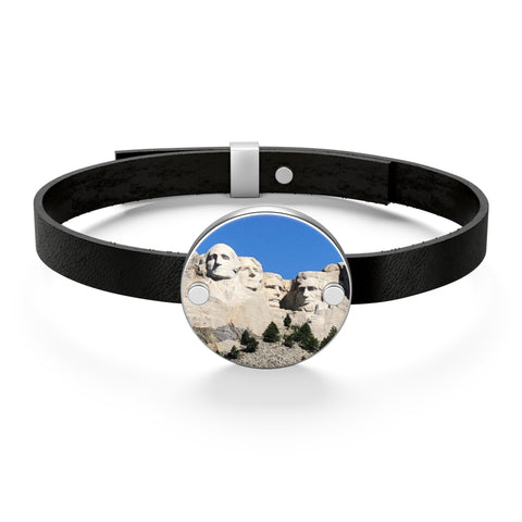 Mount Rushmore Leather Bracelet