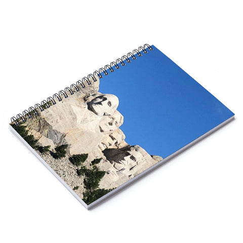 Mount Rushmore Notebook - Ruled Line