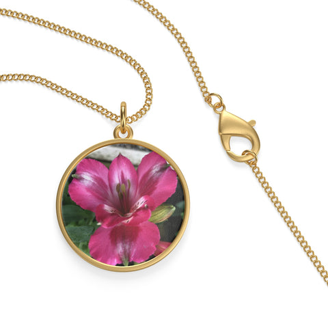 Peruvian Lily Loop Necklace