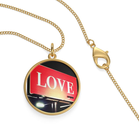 Love Billboard Single Loop Necklace