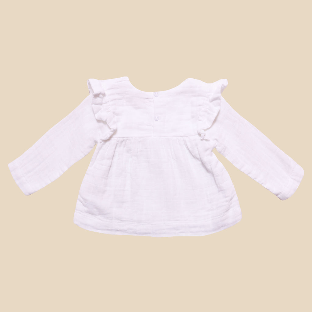 Baby Girl Ivy Blouse, White
