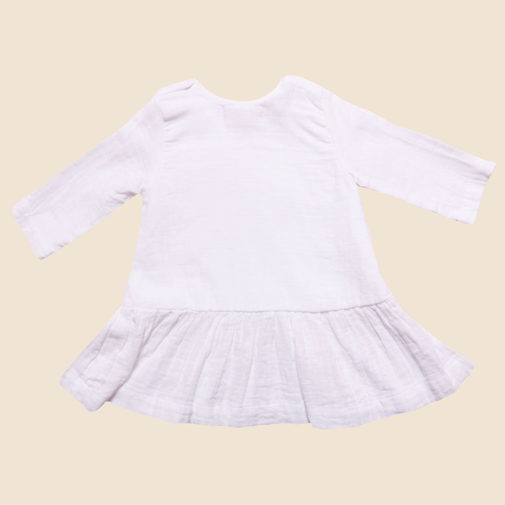 Baby Girl Lilly Dress, White