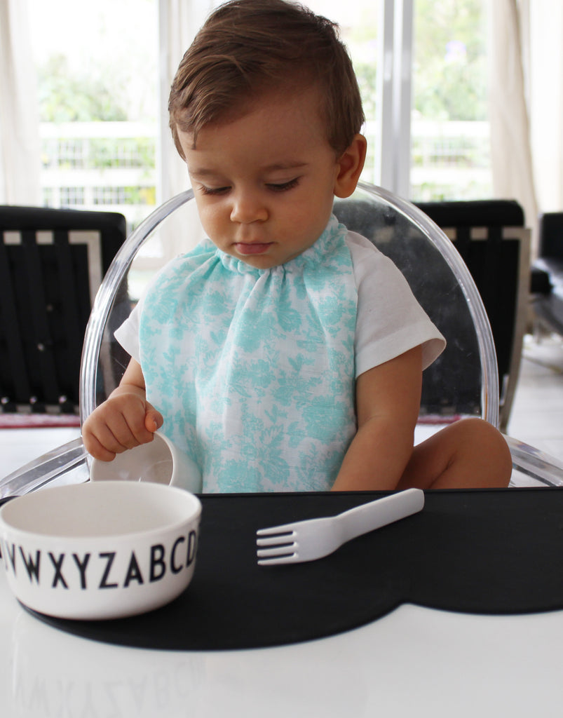 Baby Bib, James, Mint & White