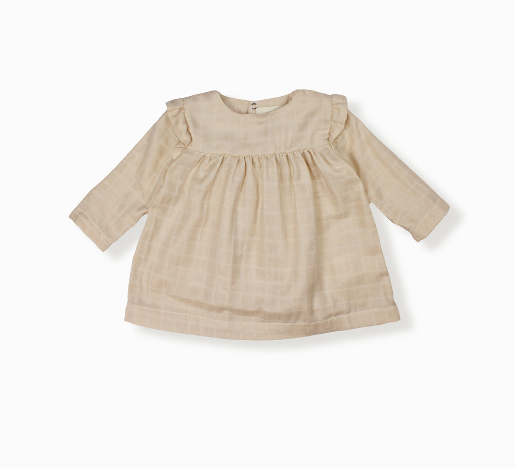 Baby Girl Ivy Blouse, Beige