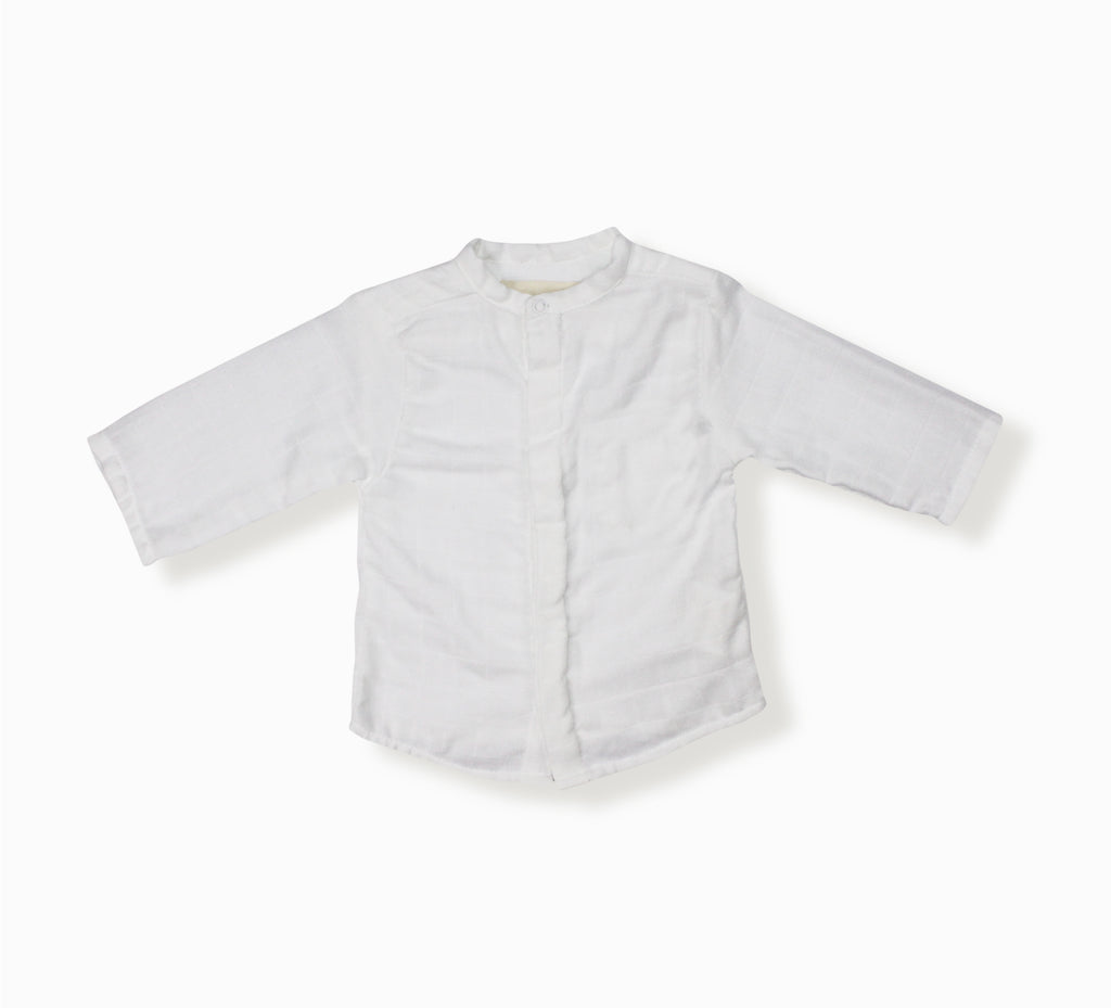 Baby Boy May Shirt, White