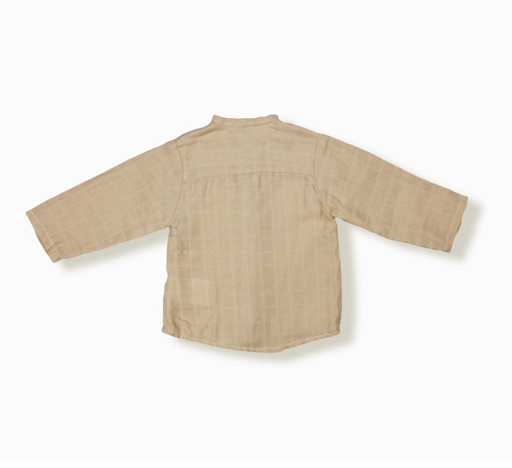 Baby Boy May Shirt, Beige