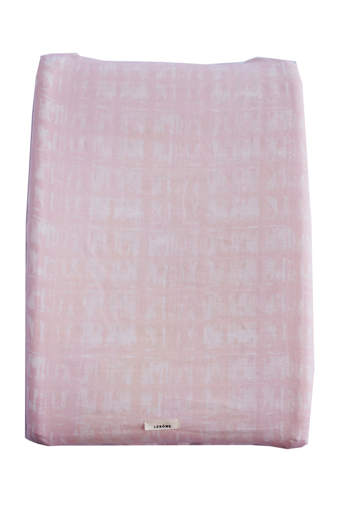 Baby Changing Mat Cover, Unisex, Pink/White