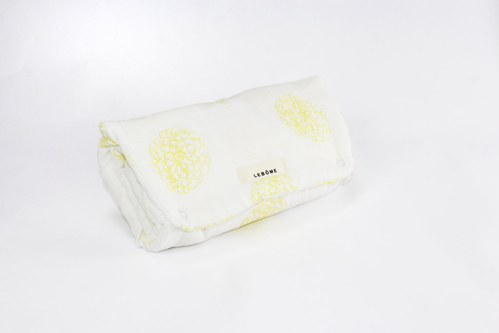 Baby Changing Mat, Oscar, Yellow & White